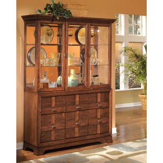 Signature Design by Ashley Clifton Park Walnut China Cabinet