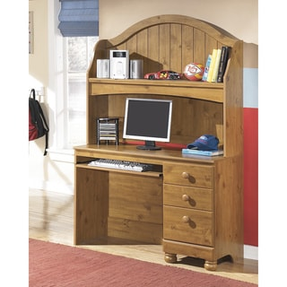 Signature Designs by Ashley Stages Replicated Pine Grain Youth Bedroom Desk Hutch