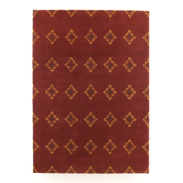 Signature Designs by Ashley Nandina Burgundy Jaquard Print Area Rug (5 x 7')