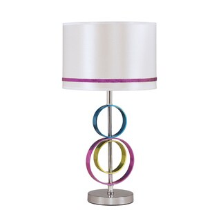 Signature Designs by Ashley Rianna Colored Geometric Polyester Table Lamp