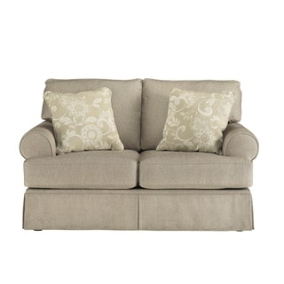 Signature Designs by Ashley 'Candlewick' Tan Linen Loveseat