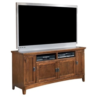 Signature Designs by Ashley 'Cross Island' Brown Oak Large TV Stand