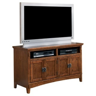 Signature Designs by Ashley 'Cross Island' Brown Oak Medium TV Stand