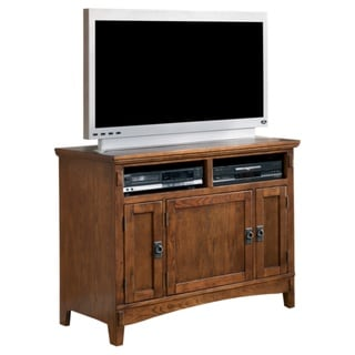 Signature Designs by Ashley 'Cross Island' Brown Oak TV Stand