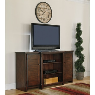 Signature Design by Ashley Hindell Park Dark Brown Extra Large TV Stand