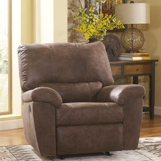 Signature Designs by Ashley Pikara Gunsmoke Rocker Recliner