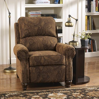 Signature Design by Ashley Deanville Antique Paisley Low-leg Recliner