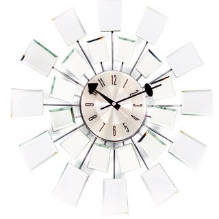 George Nelson Reflections Mid-century Modern Mirror Wall Clock