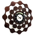 George Nelson Style Mid-century Modern Wooden Wall Clock