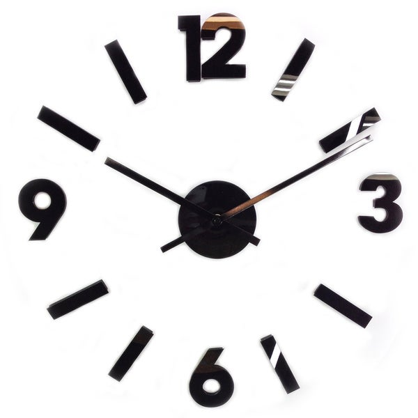 Contemporary 30-inch DIY Self Adhesive Hanging Wall Clock
