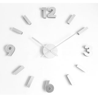 Contemporary 30-inch DIY Self Adhesive Silvertone Wall Clock