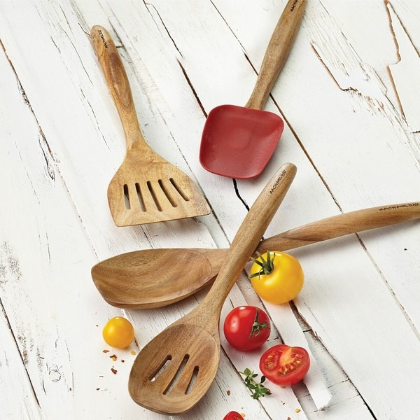 Rachael Ray Cucina Tools 12-1/2-inch Wooden Solid Spoon 13327615