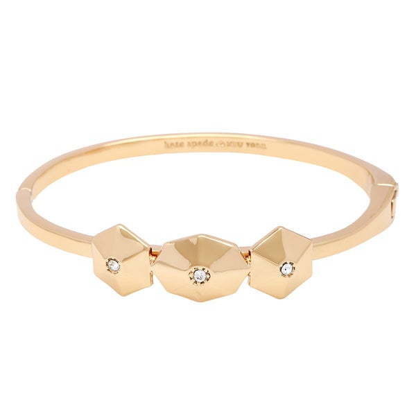 kate spade 14K Gold Plated 'Asteroid Stone' Cluster Hinge Bangle