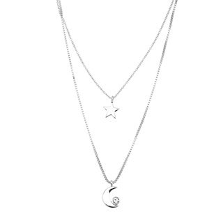 kate spade 'Starry Eyed' Rhodium Plated Star and Moon Pendant