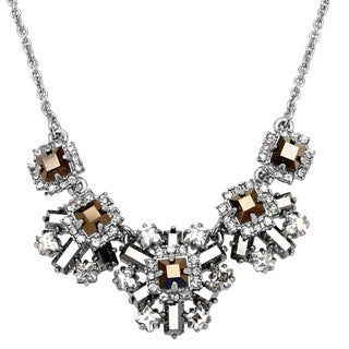 kate spade 'Space Age Floral' Jewel Black and Clear Geranium Necklace