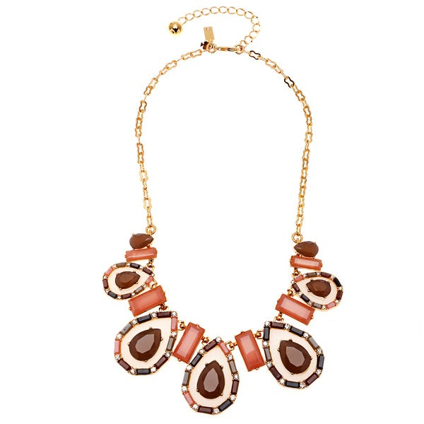 kate spade Gold Overlay Multicolored Gem Necklace