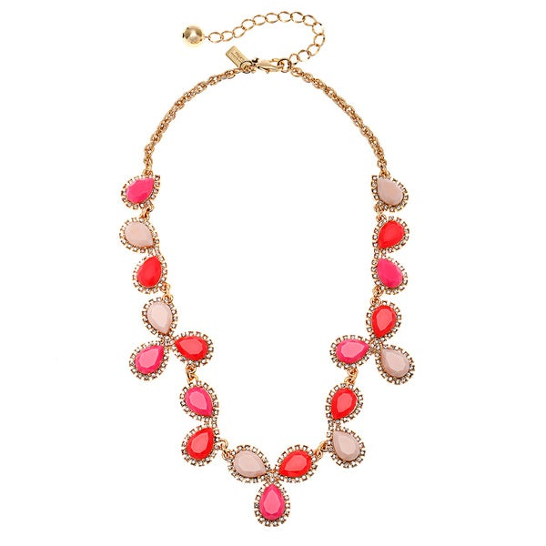 kate spade Pink Pear-shaped Cluster Necklace