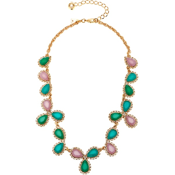 kate spade Pear-shaped Cluster Stone Necklace