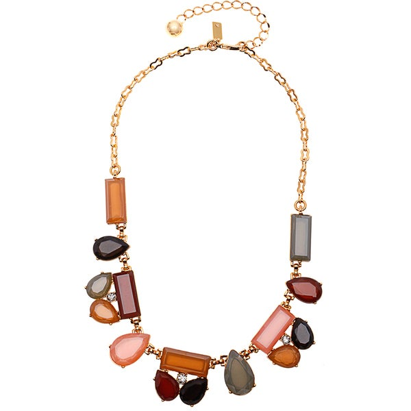 Kate Spade Multicolored Mixed Stone Cluster Necklace