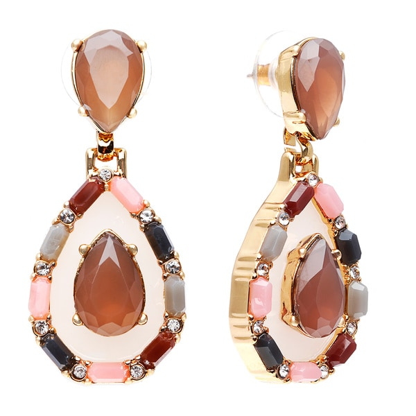 kate spade Neutral Multi Stone Push Back Earrings