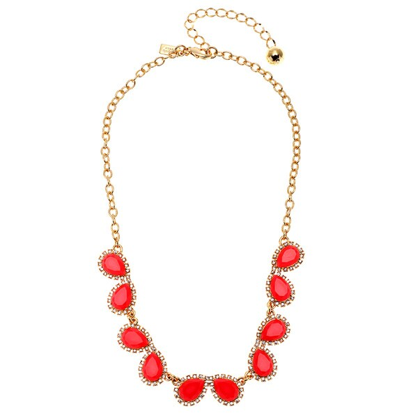 kate spade Pink Pear-shaped Mini Row Necklace
