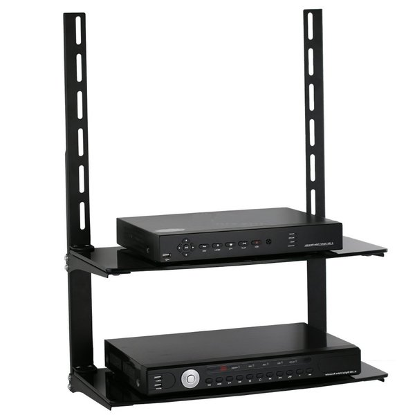 Mount-It! 2-shelf LCD, LED, Plasma TV Wall Mount Bracket ...
