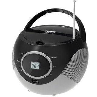 Naxa NPB-263 Portable Mini MP3/CD Boombox with AM/FM Radio and USB Player