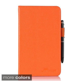 roocase Dual View Folio PU Leather Case Cover Stand with Stylus for Samsung Galaxy Tab 4 7.0 SM-T230 Folio Case Cover