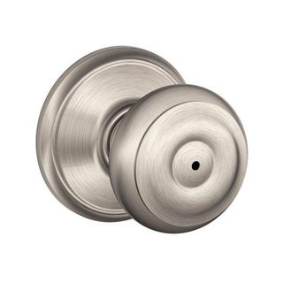 Schlage Georgian Satin Nickel Privacy Bedroom and Bathroom Doorknob