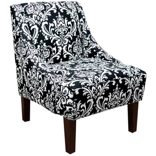 Made tor Order Black/ White Swoop Arm Chair