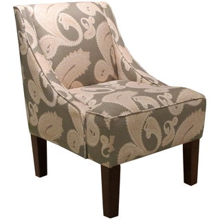 Made to Order Brown/ Pink Swoop Arm Chair