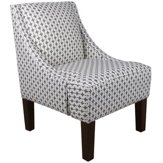Made to Order Grey/ White Swoop Arm Chair