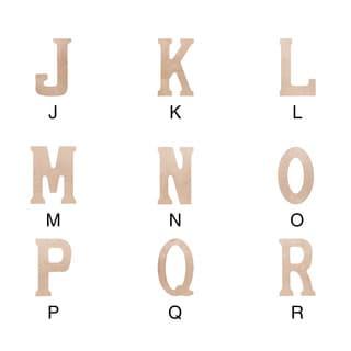 "Wood Letter 18""X.5"""