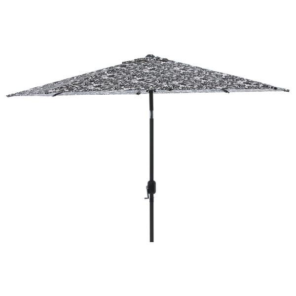 pillow perfect black white damask 9 foot patio umbrella