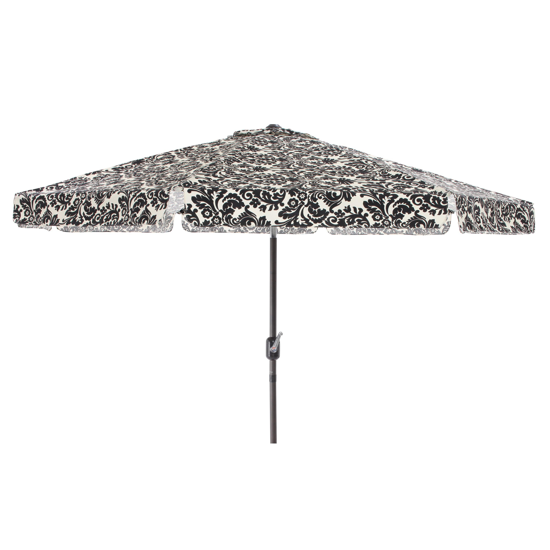 pillow black white damask 9 foot patio umbrella