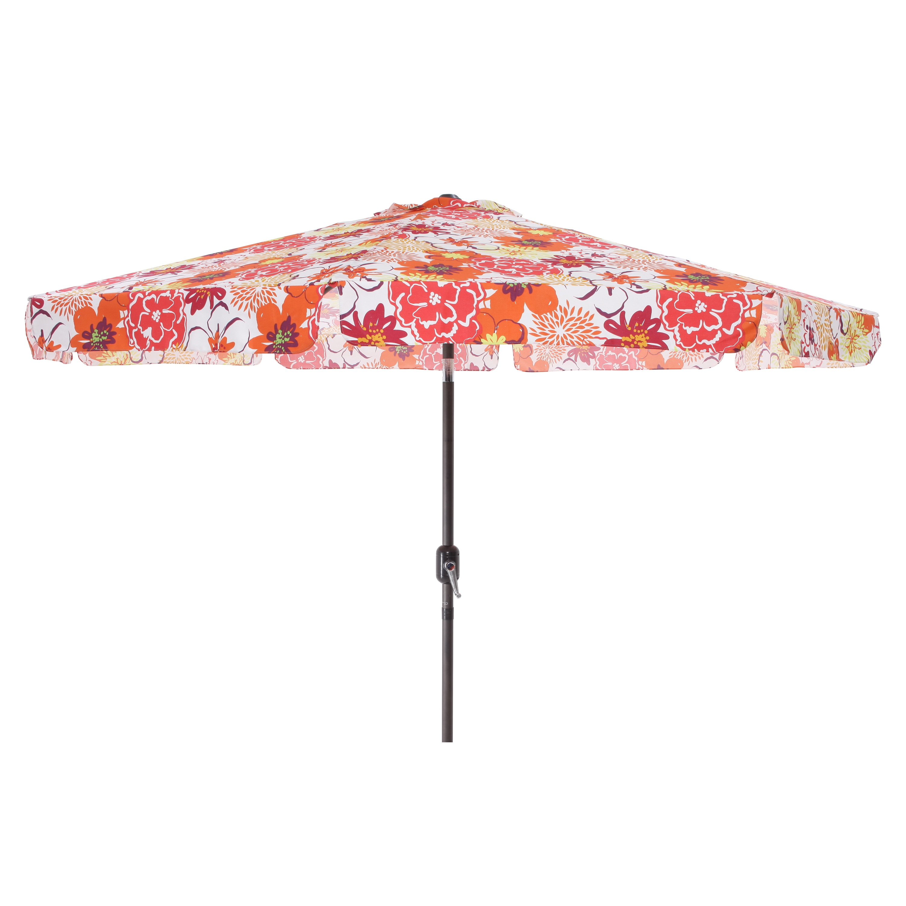 Pillow Perfect Floral Fantasy Raspberry 9-foot Patio Umbrella at Sears.com