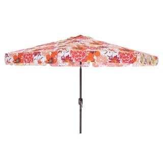 Pillow Perfect Floral Fantasy Raspberry 9-foot Patio Umbrella