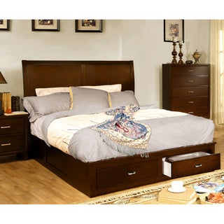 Furniture of America Ricarde Brown Cherry Storage Platform Bed