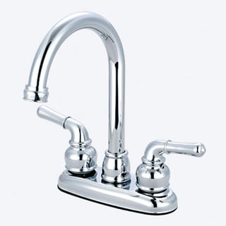 Olympia Series B-8160 Two Handle Bar Faucet with Gooseneck Style Spout