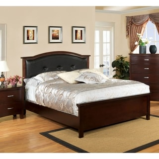 Furniture of America Marilyn Modern Tufted Leatherette Platform Bed