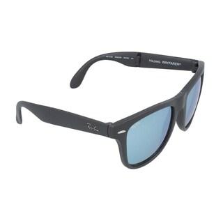 Ray-Ban Wayfarer Folding Classic Sunglasses 54mm - Grey Frame/Silver Mirror Lens