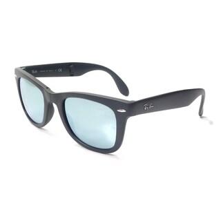 Ray-Ban Wayfarer Folding Classic Sunglasses 50mm - Grey Frame/Silver Mirror Lens