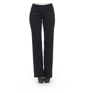 Hadari Women's Black Casual Dress Pants