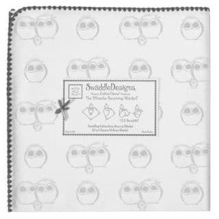 SwaddleDesigns Sterling Owls Ultimate Receiving Blanket