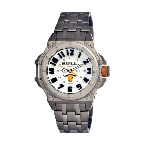 Bull Titanium Men's Brahman White Titanium Grey Analog Watch