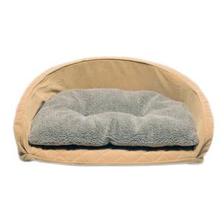 Orthopedic Kuddle Kup Caramel Pet Bed with Removable Cushion