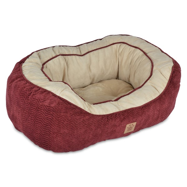 SnooZZy Burgundy Chevron Texture Daydreamer Pet Bed