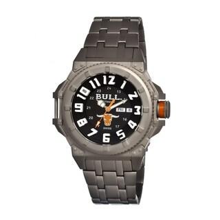 Bull Titanium Men's Brahman Black Titanium Grey Analog Watch