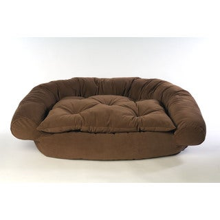 Microfiber Brown Comfort Pet Couch