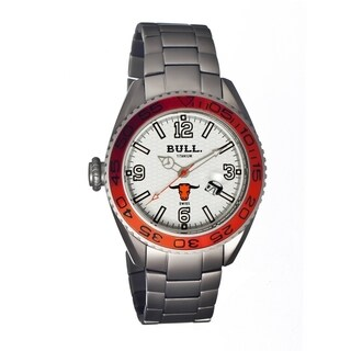 Bull Titanium Men's Hereford White Titanium Silver Analog Watch